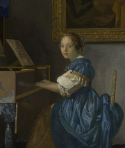 A Lady Seated at a Virginal, Johannes Vermeer
