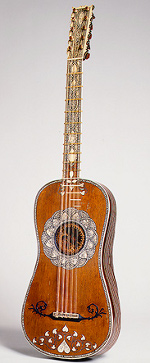 Baroque 5-course-guitar, attributed to Matteo Sellas, Venice