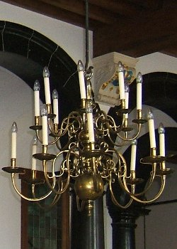 A period chandelier in the Delft Stadhuis (Town Hall)