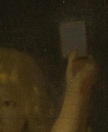A Lady Standing at a Virginal (detail), Johannes Vermeer