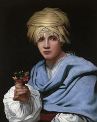 Boy in a Turban Holding a Nosegay, Michiel Sweerts