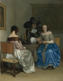 The Card Players, Gerrit ter Borch
