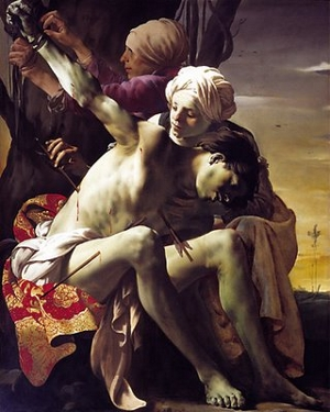 St Sebastian Tended by Irene and her Maid, Hendrick ter Brugghen<