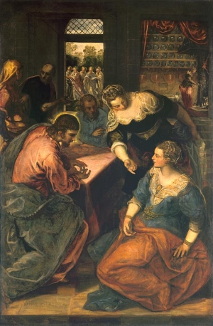 Christ in the House of Mary and Martha, Jacopo Tintoretto