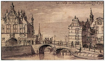 City Facades of the Rotterdam and Schiedam Gates in Delft, Josua de Grave