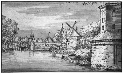 Rotterdam Gate in Delft from Afar, Josua de Grave