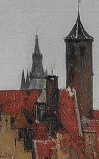 View of Delft (detail), Johannes Vermeer