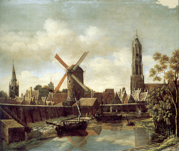 The Harbour of Delft, Daniel Vosmaer