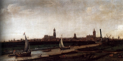 View of Delft from the Northwest, Hendrick Cornelisz.Vroom