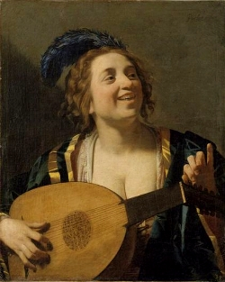 Girl with a Lute, Gerrit van Honthorst