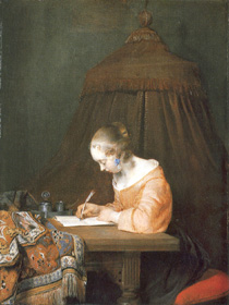Woman Writing a Letter, Gerrit ter Borch