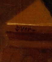 Signature of Johannes Vermeer's Christ in the House of Martha and Mary