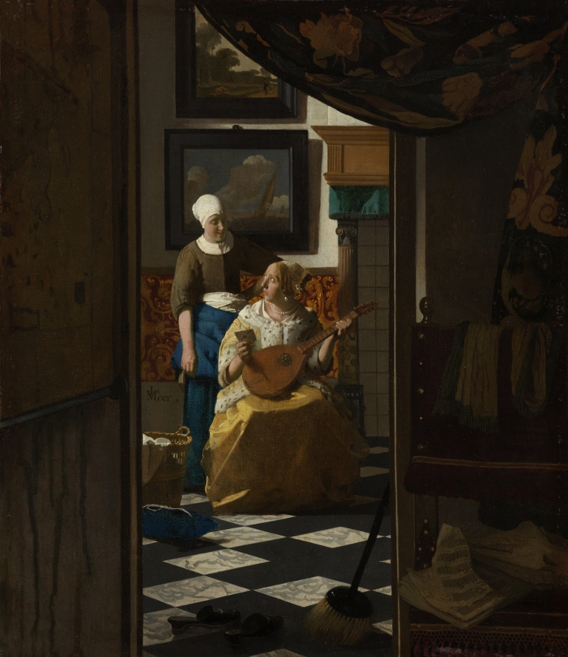 Vermeer's painting of the 'Love letter'