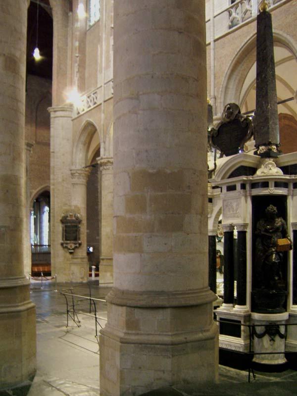 The Oude And Nieuwe Kerk In Delft