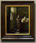 Lady Writng a Letter with her Maid, Johannes Vermeer (in scale)
