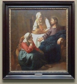 Christ in the House of Martha and Mary, Johannes Vermeer (in scale)