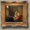 Girl Interrupted in her Music, Johannes Vermeer  (in scale)