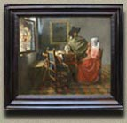 The Glass of Wine, Johannes Vermeer (in scale)