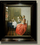 Girl with a Glass of Wine, Johannes Vermeer (in scale)
