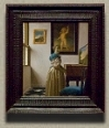 A Lady Standing at a Virginal, Johannes Vermeer  (in scale)