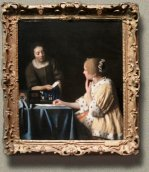 Mistress and Miad, Johannes Vermeer (in scale)
