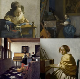 four paintings by Vermeer