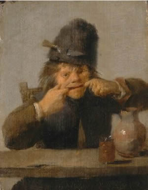 Youth Making a Face, Adriaen Brouwer