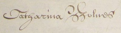 signature of Catharina Bolnes