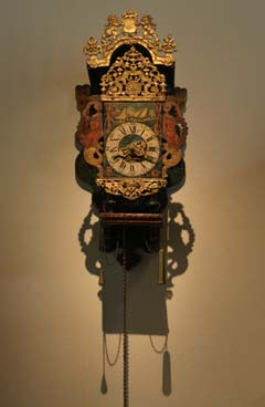 A clock in the Frans Hals Museum, Utrecht.
