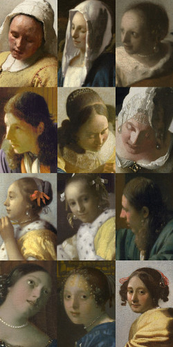 Twelve women in Vermeer's paintings