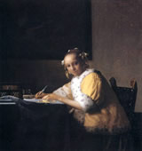 A Lady Writing, Johannes Vermeer
