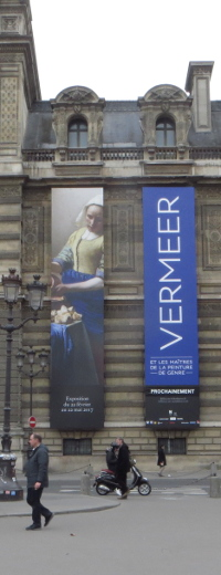 Louvre banners of special Vermeer exhibition