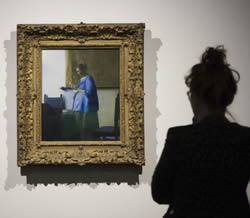 Vermeer's Woman in Blue Reading a Letter exhibited at the Minneapolis Institute of Arts Centennial Celebration