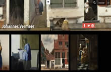 Rijksmuseum website page for Vermeer