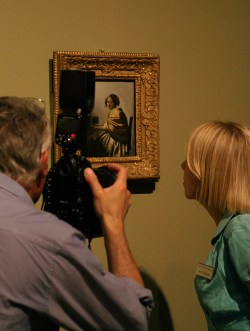 Vermeer painting on exhibition