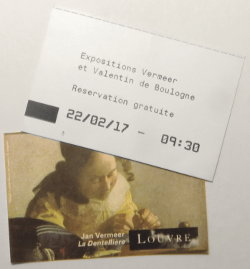 tickets for Vermeer esxhibition