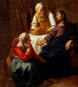 Christ in nthe Hosue of Martha and Mary, by Johannes vermeer