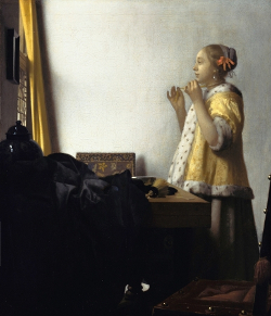 Woman with a Pearl Necklace, Johannes Vermeer