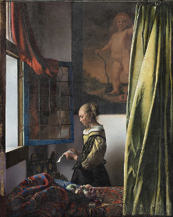 Girl Reading a Letter at an Open Window, Johannes Vermeer