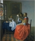 The Girl with a Glass of Wine, Johannes Vermeer
