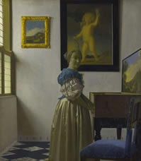 Lady Standing at the Virginal,  Johannes Vermeer