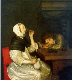 A Lady Reading a Letter c. 1662