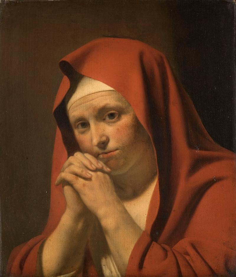 Woman Praying Painting Jan Van Bijlert Praying Woman