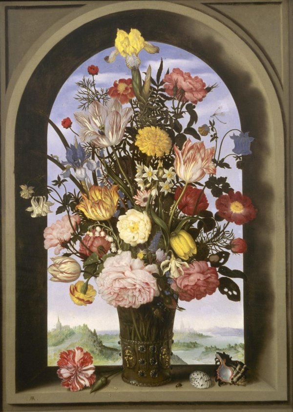 Ambrosio Bosschaert Vase With Flowers In A Window
