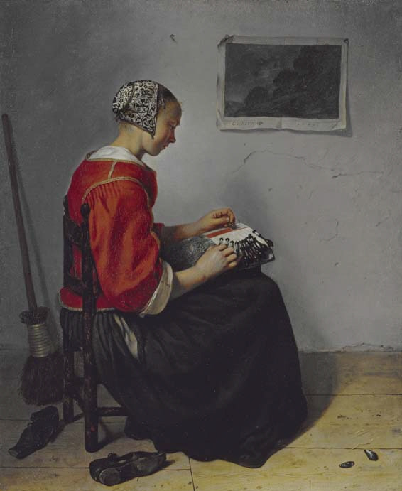 The Lacemaker, Caspar Netscher