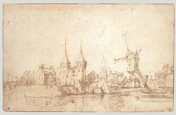 Jan Van De Velde The Younger The Oospoort The East Gate