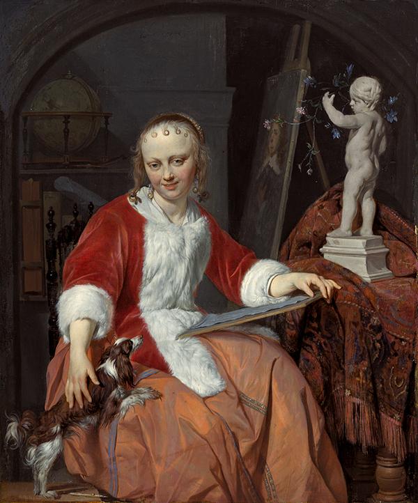 a woman artist le courset rouge gabriel metsu
