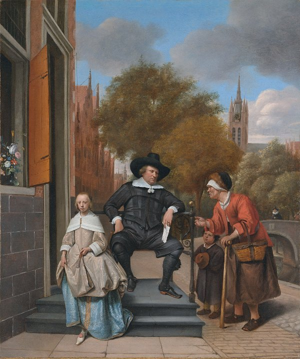 A Burgher Of Delft And His Daughter By Jan Steen