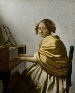 Young WOman at the Virginals, Johannes Vermeer (?)