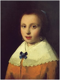 Girl with a Blue Bow erroneously attributed to Johannes Vermeer